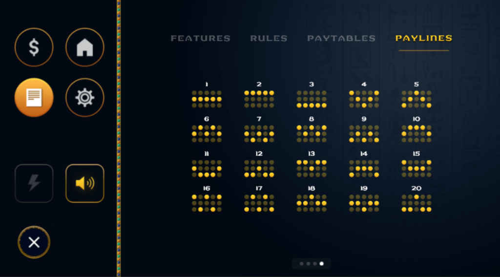 paytable for casino games