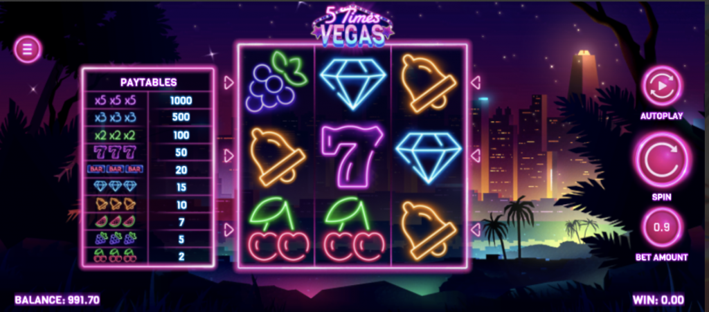 5 Times Vegas Game Features