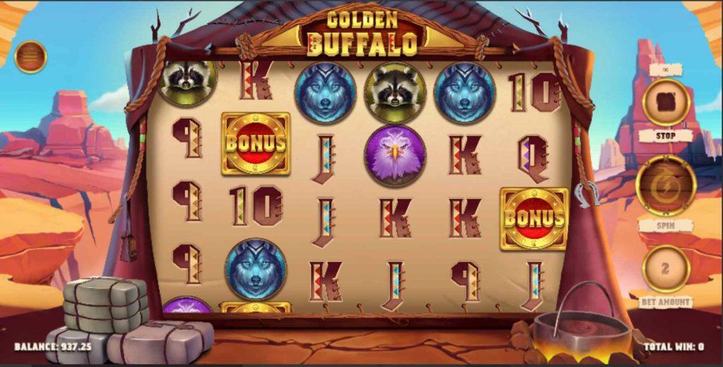 golden buffalo slots game format