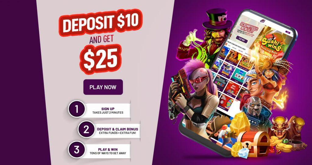 Your Cafe Casino welcome bonus